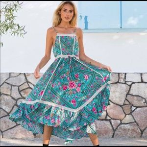 Spell and the gypsy babushka dress turquoise
